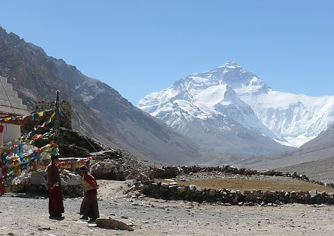 Kultur Gruppenreise Tibet Kloster Rongbuk  Mt. Everest Base Camp