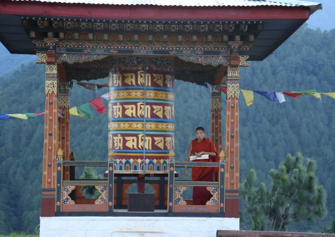 Mönch in Bhutan